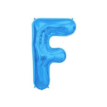 Palloncino Mylar Lettera F Media - 41 cm. Blu