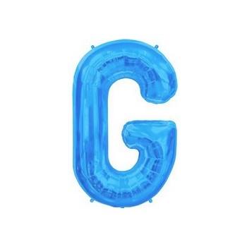 Palloncino Mylar Lettera G Media - 41 cm. Blu