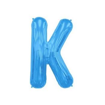 Palloncino Mylar Lettera K Media - 41 cm. Blu