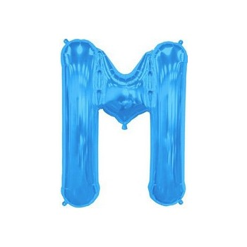 Palloncino Mylar Lettera M Media - 41 cm. Blu