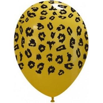 Palloncino in Lattice Rotondo 30 cm. Stampa Leopardo