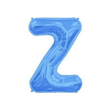 Palloncino Mylar Lettera Z Media - 41 cm. Blu