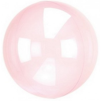 Palloncino Crystal Clears Rosa - 45 cm.