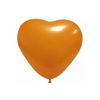 Palloncino in Lattice Cuore 12,5 cm. Arancione