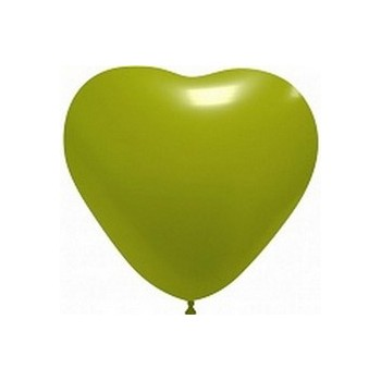 Palloncino in Lattice Cuore 12,5 cm. Verde Lime