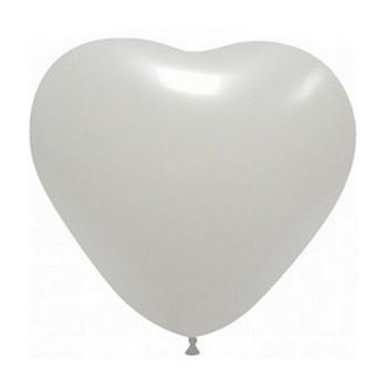 Palloncino in Lattice Cuore 25 cm. Bianco