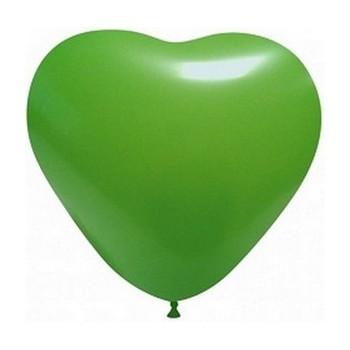 Palloncino in Lattice Cuore 25 cm. Verde Scuro