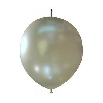 Palloncino in Lattice Link 29 cm. Argento Metallizzato