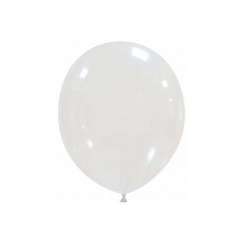 Palloncino in Lattice Rotondo 12,5 cm. Crystal Trasparente