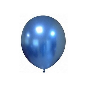 Palloncino in Lattice Rotondo 17 cm. Chrome Blue