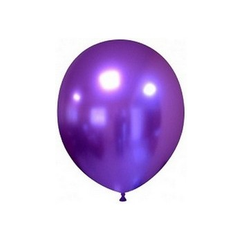 Palloncino in Lattice Rotondo 17 cm. Chrome Purple