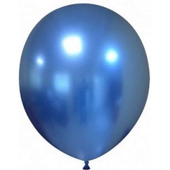 Palloncino in Lattice Rotondo 30 cm. Chrome Blue