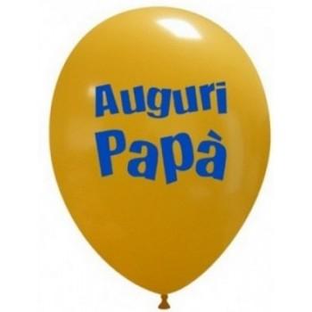 Palloncino in Lattice Rotondo 30 cm. Stampa Auguri Papà Assortiti