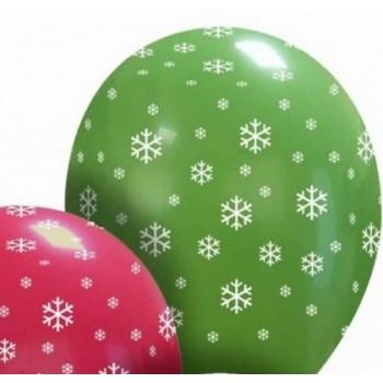 Palloncino in Lattice Rotondo 30 cm. Stampa Natale Verdi & Rossi
