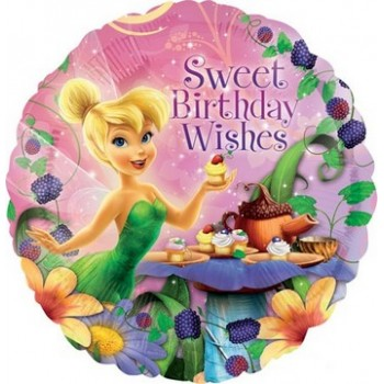 Palloncino Mylar 45 cm. Tinkerbell HBD Wishes