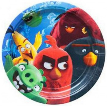 Angry Birds - Piatto Carta 18 cm. - 8 pz.