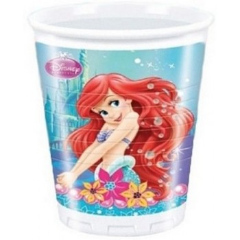Ariel - Bicchiere Plastica 200 ml. - 8 pz.