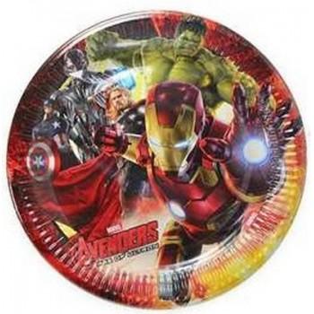 Avengers - Piatto Carta - 23 cm - 8 pz.