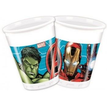Avengers Mighty - Bicchiere Plastica 200 ml. - 8 pz.