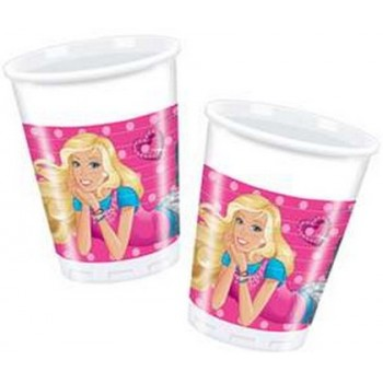 Barbie - Bicchiere Plastica - 200 ml. - 10 pz.