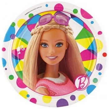 Barbie - Piatto Carta - 18 cm. - 8 pz.