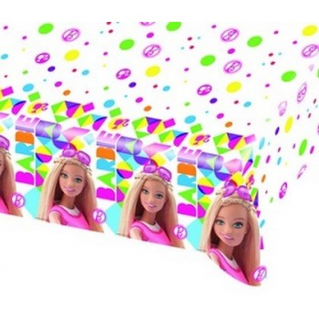 Barbie - Tovaglia Plastica 120x180 cm.