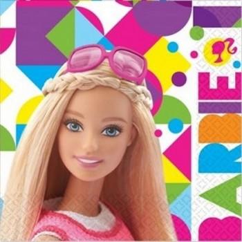 Barbie - Tovagliolo 33x33 cm. - 20 pz.