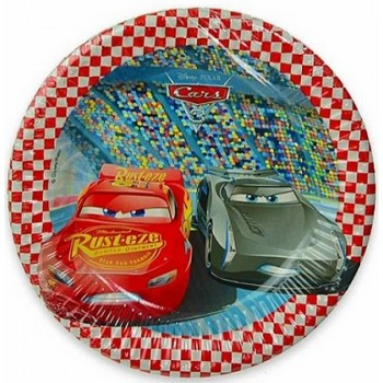 Cars - Piatto Carta - 20 cm. - 8 pz.