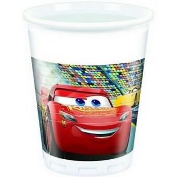 Cars 3 - Bicchiere Plastica 200 ml. - 8 pz.