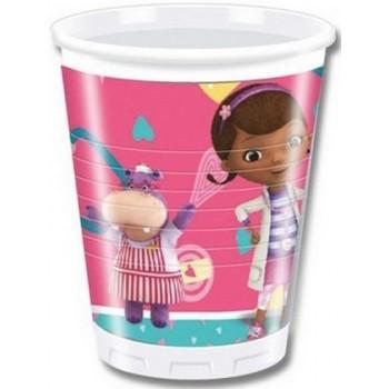 Dottoressa Peluche - Bicchiere Plastica 200 ml. - 8 pz.