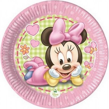 Minnie Baby - Piatto Carta - 20 cm. - 8 pz.