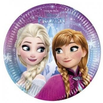 Frozen - Piatto Carta 20 cm. - 8 pz.