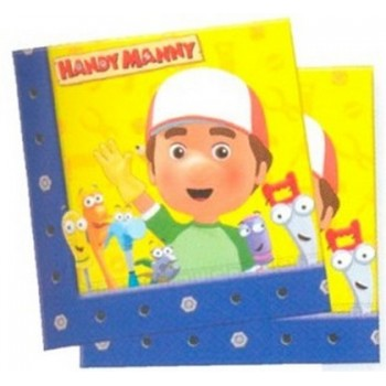 Handy Manny - Tovagliolo 33x33 cm. - 20 pz.