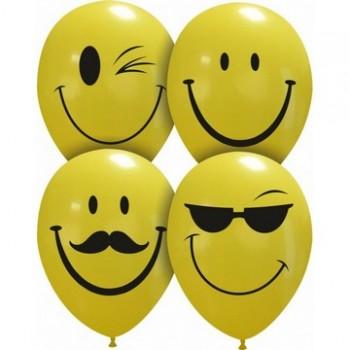 Palloncino in Lattice Rotondo 30 cm. Stampa Smile Assortiti