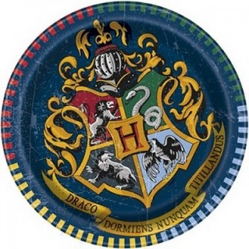 Harry Potter - Piatto Carta 17 cm. - 8 pz.