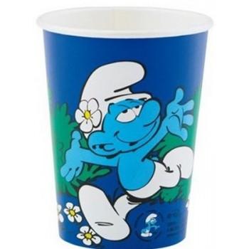 I Puffi - Bicchiere Carta 200 ml. - 8 pz.