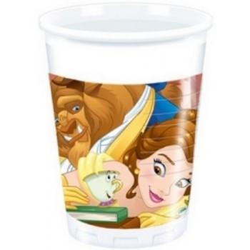 La Bella e la Bestia - Bicchiere Plastica 200 ml. - 8 pz.