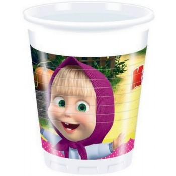 Masha & Orso - Bicchiere Plastica 200 ml - 8 pz.