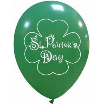 Palloncino in Lattice Rotondo 30 cm. Stampa ST. Patricks Day Quadrifoglio