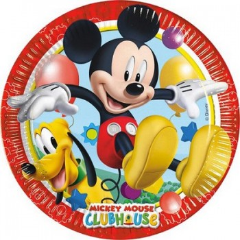 Mickey Mouse Clubhouse - Piatto Carta 20 cm. - 8 pz.