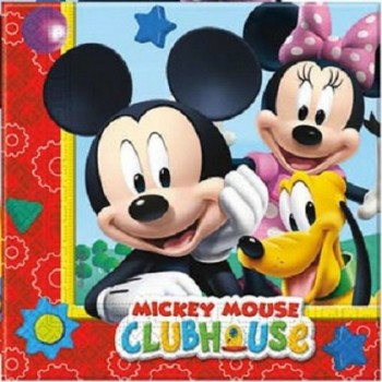 Mickey Mouse Clubhouse - Tovagliolo 33x33 cm. - 20 pz.