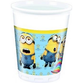 Minions - Bicchieri Plastica 200 ml. - 8 pz.