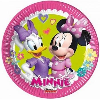 Minnie Happy Helpers - Piatti Carta 20 cm. - 8 pz.