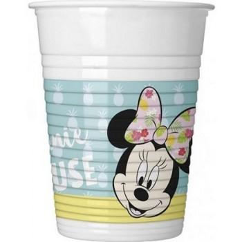 Minnie Tropical - Bicchiere Plastica 200 ml. - 8 pz.