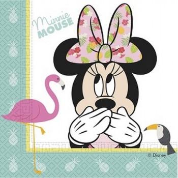 Minnie Tropical - Tovagliolo 33x33 cm. - 20 pz.