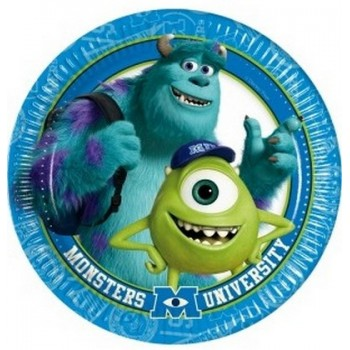 Monsters University - Piatto Carta 20 cm. - 8 pz.