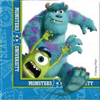 Monsters University - Tovagliolo 33x33 cm.- 20 pz.