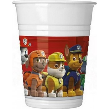 Paw Patrol - Ready for Action - Bicchiere Plastica 200 ml. - 8 pz.