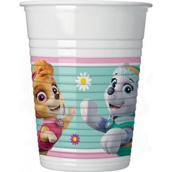 Paw Patrol Skye and Everest - Bicchiere Plastica 200 ml. - 8 pz.