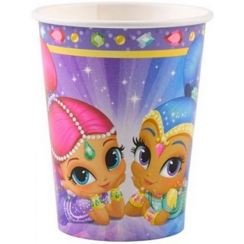 Shimmer & Shine - Bicchiere Carta 250 ml. - 8 pz.